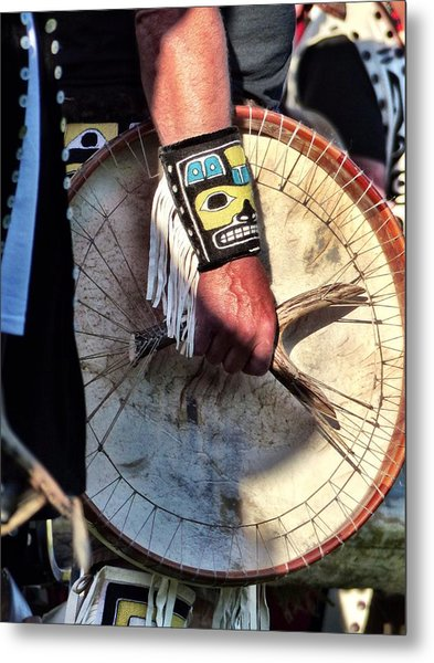 Metal Print featuring the photograph Haida Drum by Rand