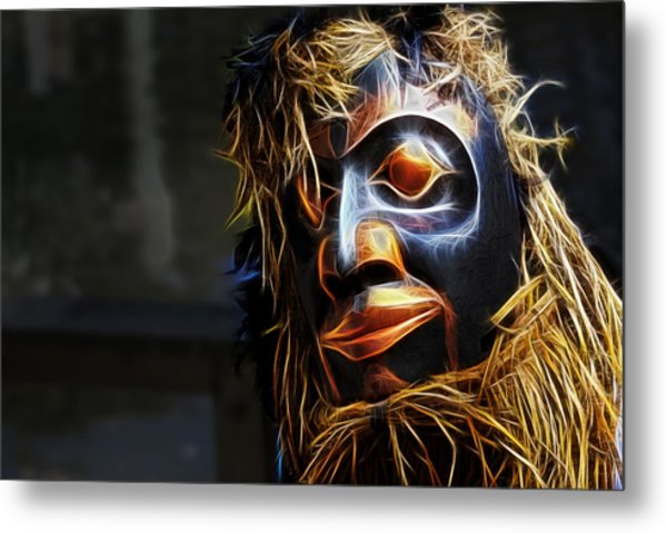 Haida Head Metal Print