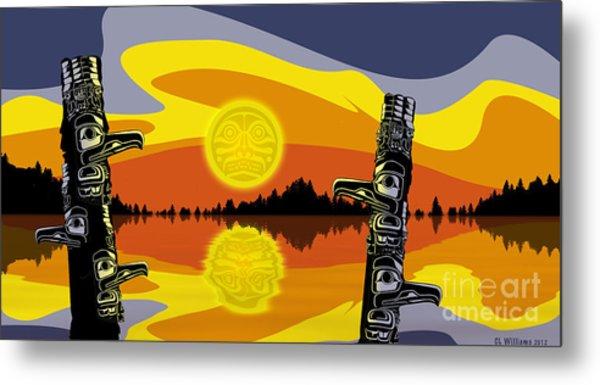 Haida Sunset Metal Print by Christopher Williams