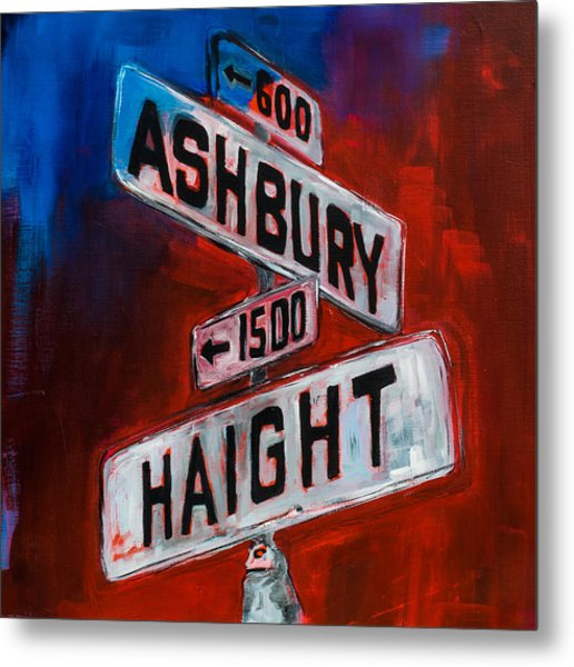 Haight And Ashbury Metal Print