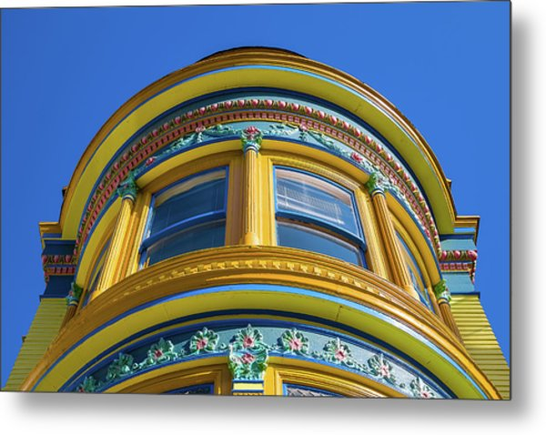 Haight Ashbury Painted Victorian Metal Print
