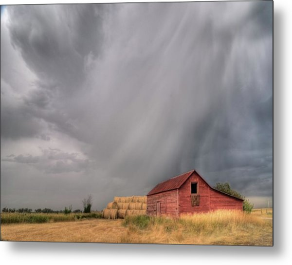 Hail Shaft And Montana Barn Metal Print