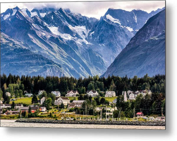 Haines, Alaska Surrounded In Mountains Metal Print