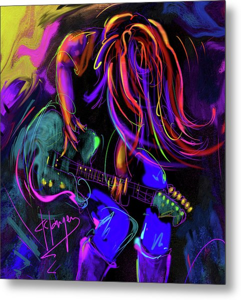 Hair Guitar 2 Metal Print