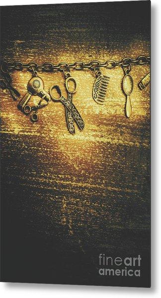 Hairdressing Beauty Salon Background Metal Print