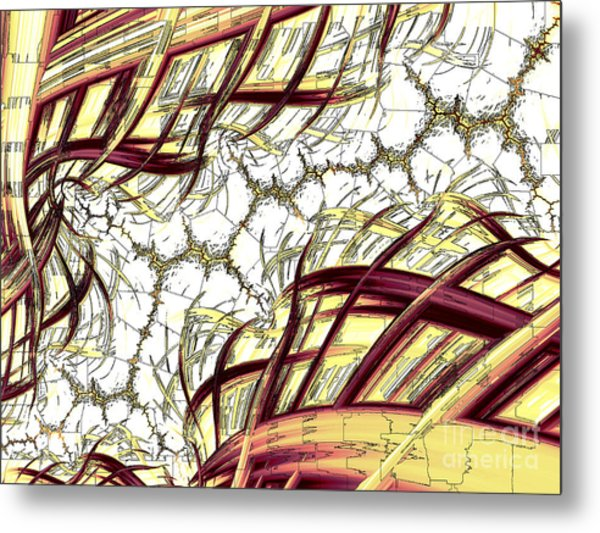 Hairline Fracture Metal Print