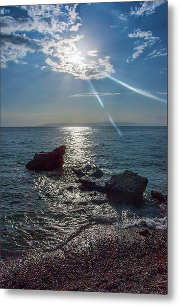Haitian Beach In The Late Afternoon Metal Print