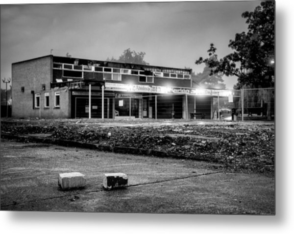 Hale Barns Square - Demolition In Progress Metal Print