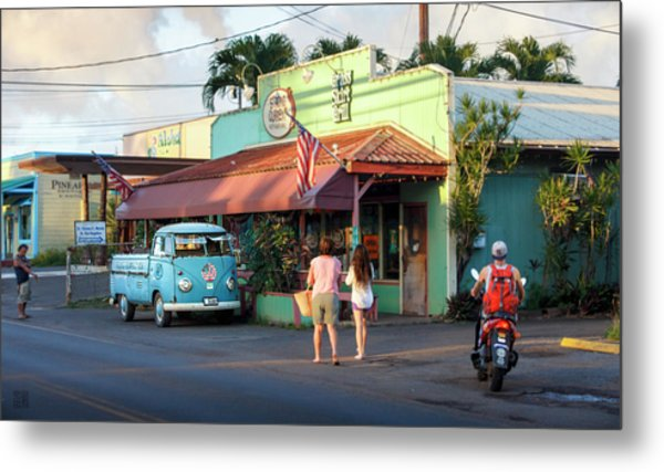 Metal Print featuring the photograph Hale'iwa Shops by Geoffrey Lewis