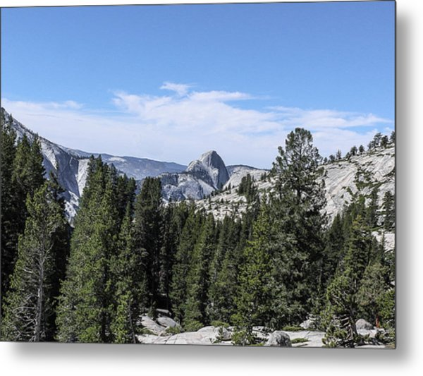 Half Dome From Olmstead Point Yosemite Valley Yosemite National Park Metal Print