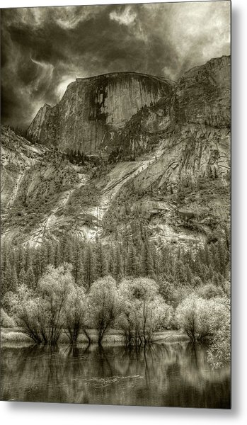 Half Dome Over Mirror Lake Metal Print