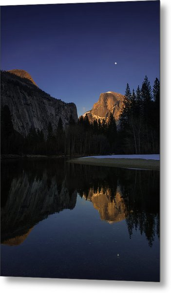 Half Dome, Twilight Metal Print