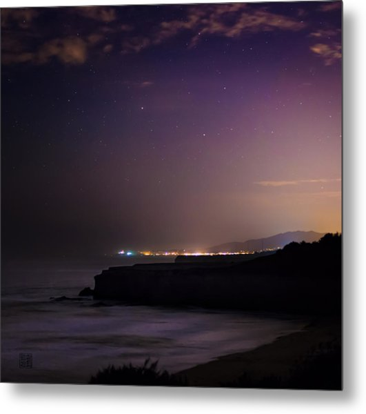 Half Moon Bay Aglow Metal Print