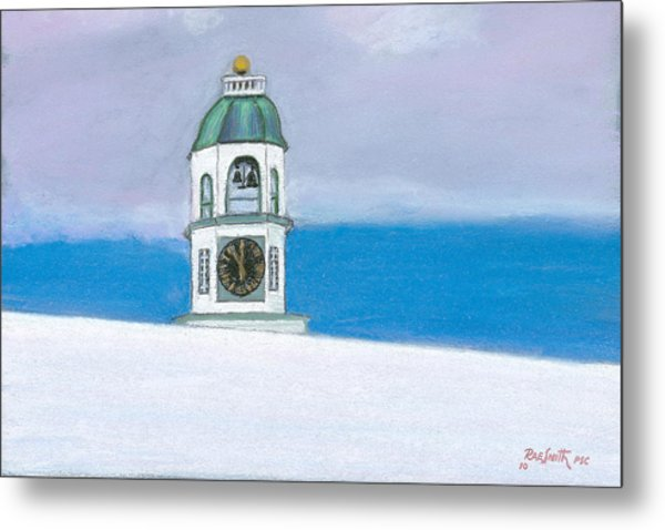 Halifax Old Town Clock Metal Print by Rae  Smith PSC