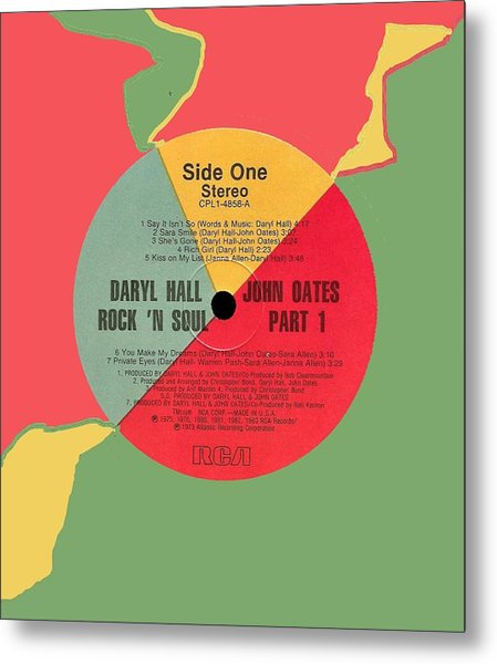Hall And Oeats Rock N Soul Pt 1 Lp Label Metal Print
