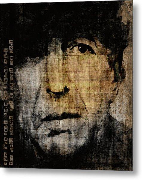 Hallelujah Leonard Cohen Metal Print