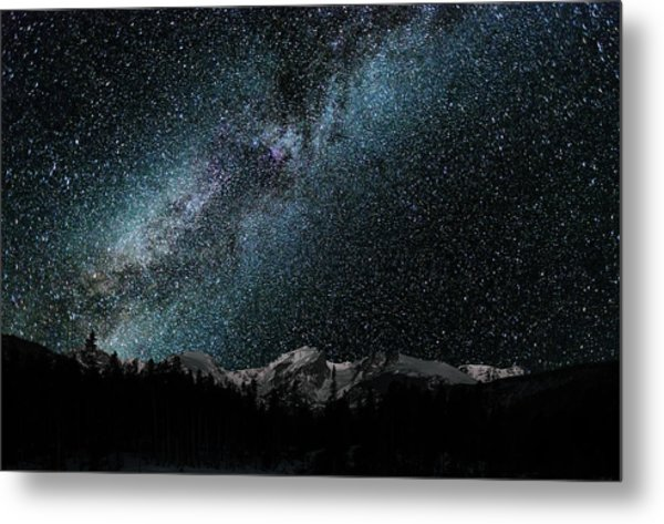 Hallet Peak - Milky Way Metal Print