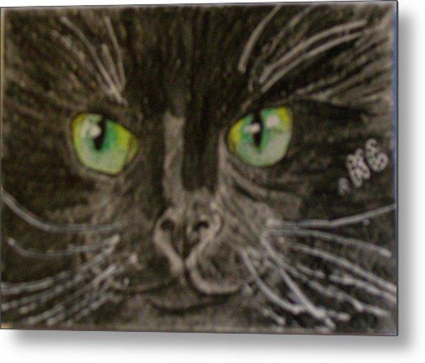 Halloween Black Cat I Metal Print