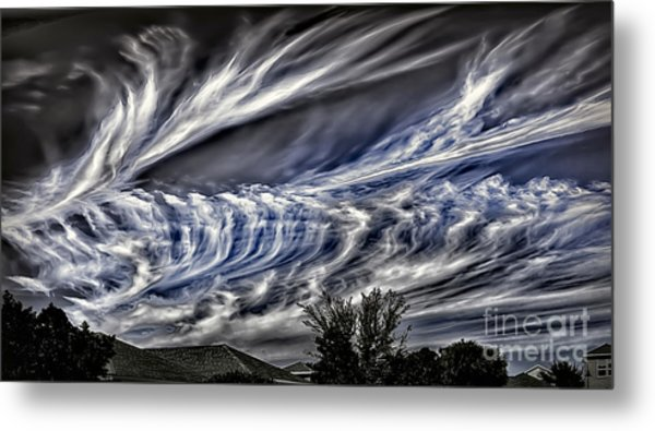 Halloween Clouds Metal Print