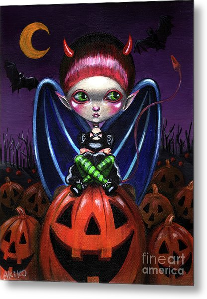 Halloween Little Devil Metal Print