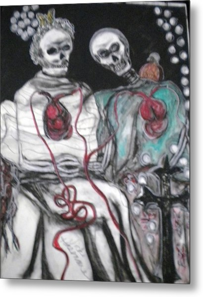 Halloween Love Metal Print by Victoria Hasenauer