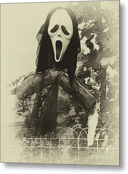 Halloween No 1 - The Scream  Metal Print