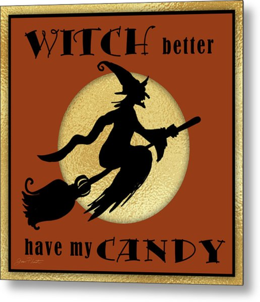 Halloween Sign 7 Metal Print
