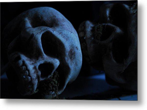 Halloween Skulls Metal Print