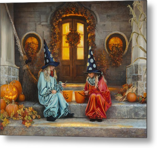 Metal Print featuring the painting Halloween Sweetness by Greg Olsen