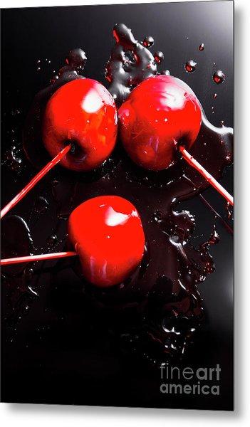 Halloween Toffee Apples Metal Print