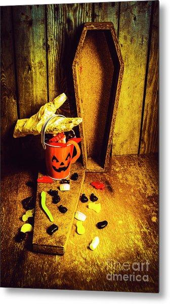 Halloween Trick Of Treats Background Metal Print