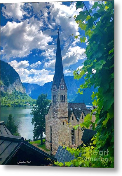 Hallstatt Church Metal Print