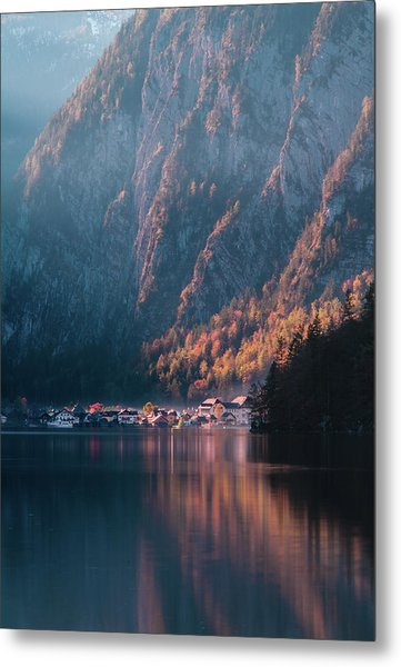 Hallstatt Fall Metal Print