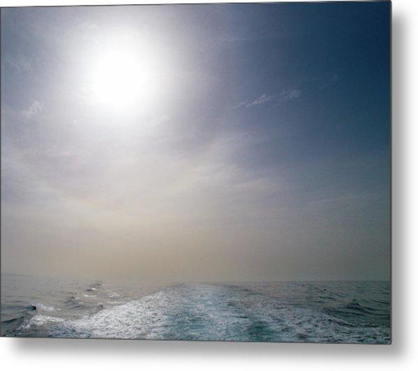 Halo Over Atlantic Ocean Metal Print