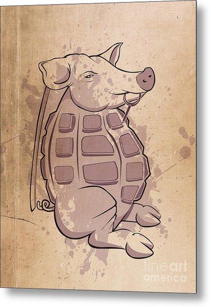Ham-grenade Metal Print