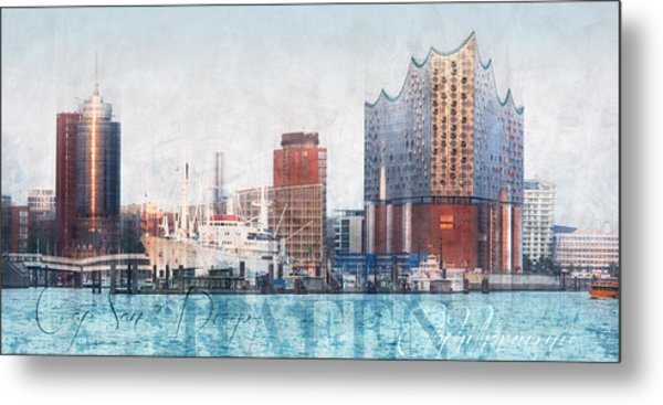 Metal Print featuring the photograph Hamburg Abstract by Marc Huebner