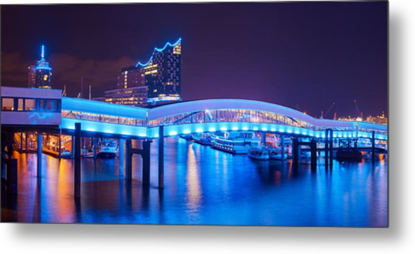 Metal Print featuring the photograph Hamburg Blue Port 2015 by Marc Huebner