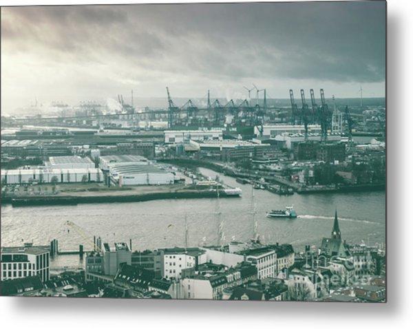 Hamburg Port  Metal Print