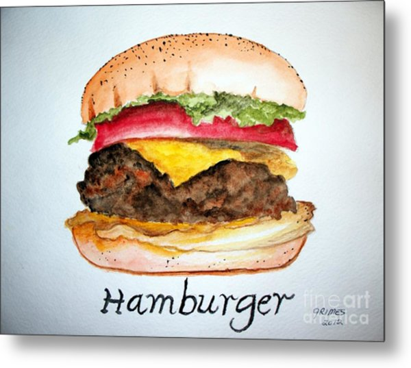 Hamburger 1 Metal Print