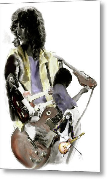 Hammer Of The Gods   Jimmy Page Metal Print