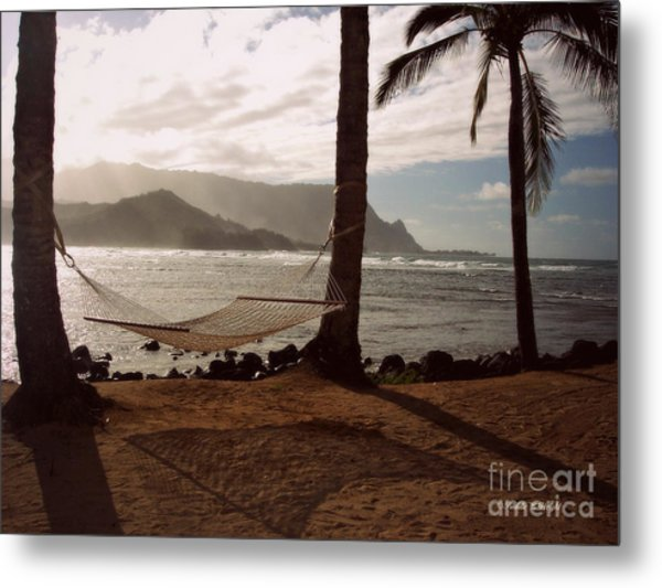 Hammock Shadow Metal Print