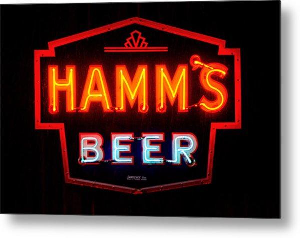 Hamm's Beer Metal Print