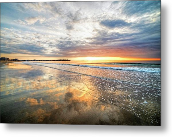 Hampton Beach Sunrise Hampton Beach State Park Hampton Nh Reflection Metal Print