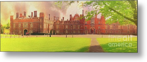 Hampton Court Palace Panorama Metal Print