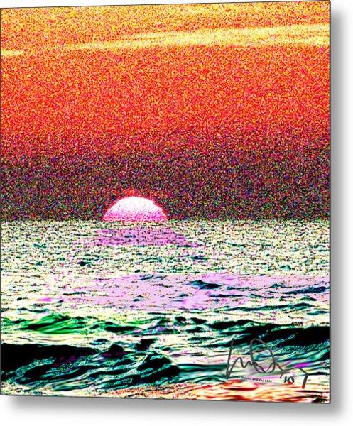 Hamriyah Sunset 2010 Metal Print by Mike Shepley DA Edin