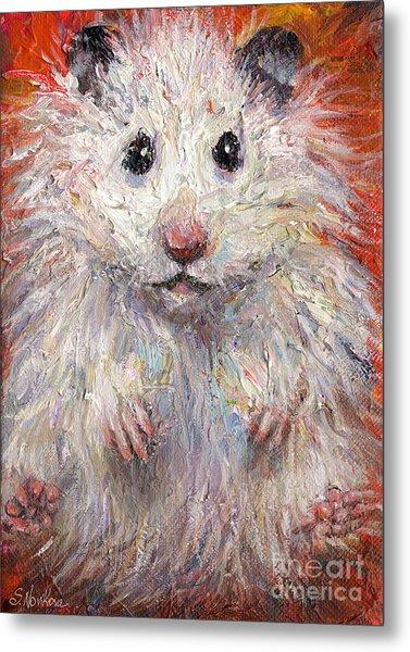 Hamster Painting  Metal Print