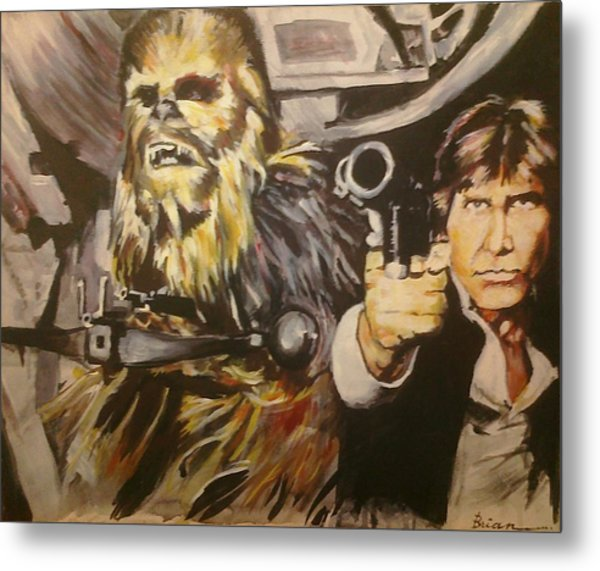 Han And Chewie Metal Print by Brian Child