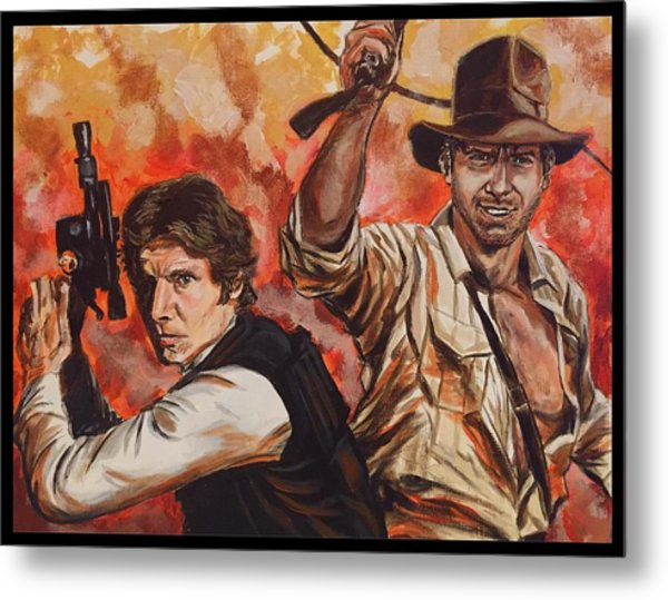 Han Solo And Indiana Jones Metal Print