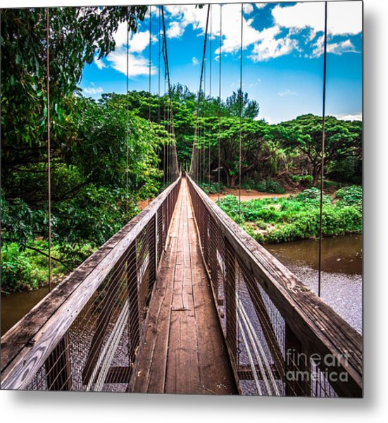 Hanapepe Bridge Metal Print
