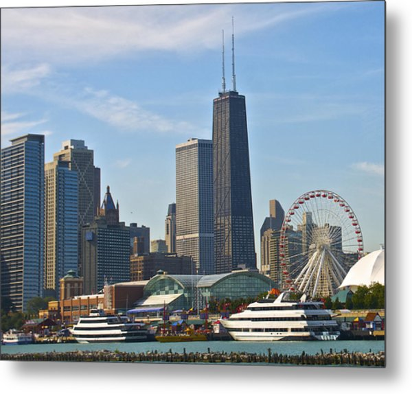 Hancock Over The Pier Metal Print